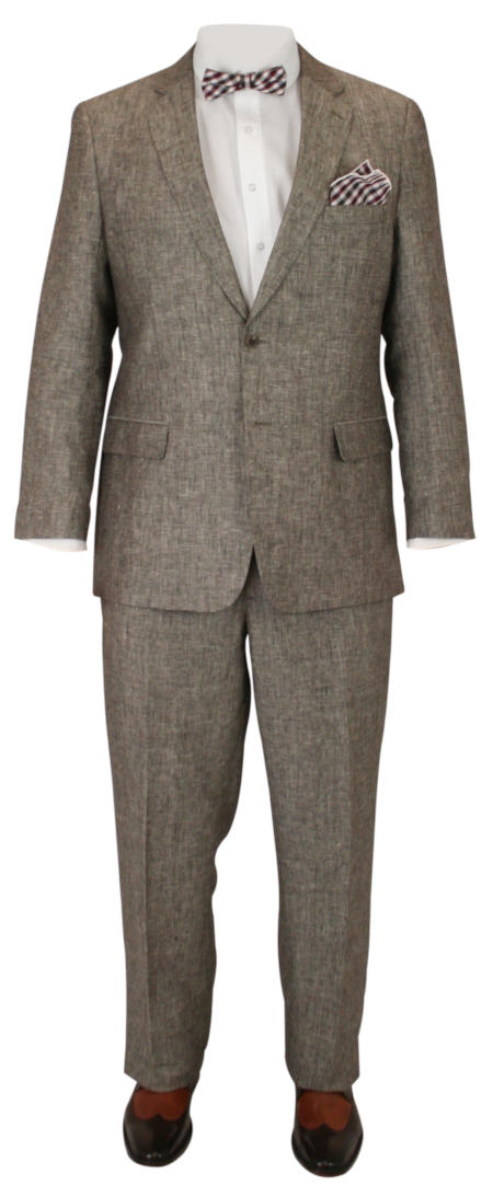 2-Piece Charleston Suit - Brown Linen
