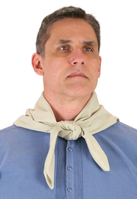 Vintage Mens Tan,Brown Cotton Solid Neckerchief | Romantic | Old Fashioned | Traditional | Classic || Cotton Neckerchief - Tan