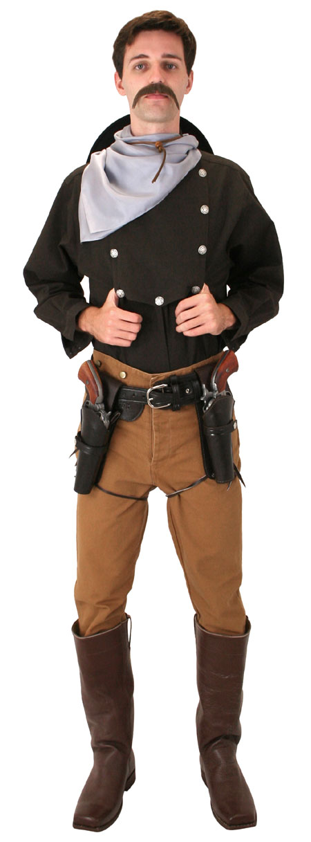 Vintage Mens Brown Cotton Solid Point Collar Bib Shirt | Romantic | Old Fashioned | Traditional | Classic || Longview Bib Shirt - Dark Brown