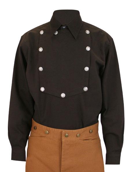 Longview Bib Shirt - Dark Brown