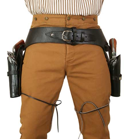 Wedding Mens Brown Leather Un-Tooled Gunbelt Holster Combo   Formal   Bridal   Prom   Tuxedo    (.44/.45 cal) Western Gun Belt and Holster - Double - Plain Brown Leather