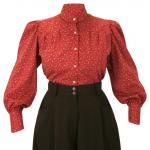 Somerset Blouse - Red Calico