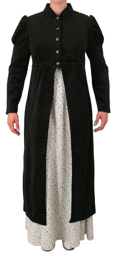 Regency Spencer Coat - Black Corduroy