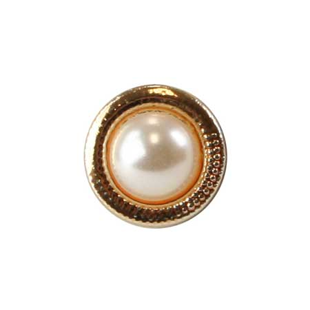 Steampunk Mens White,Gold Glass,Metal Tie Tack   Gothic   Pirate   LARP   Cosplay   Retro   Vampire    Gold Textured Tie Tack - Pearl