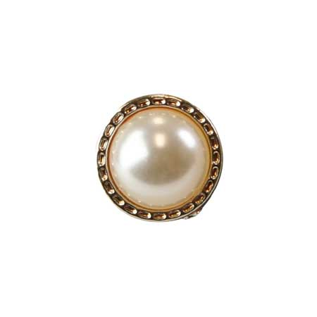 1800s Mens White,Gold Glass,Metal Tie Tack | 19th Century | Historical | Period Clothing | Theatrical || Gold Beaded Tie Tack - Pearl