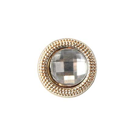 Wedding Mens Clear,Gold Glass,Metal Tie Tack | Formal | Bridal | Prom | Tuxedo || Gold Textured Tie Tack - Diamond