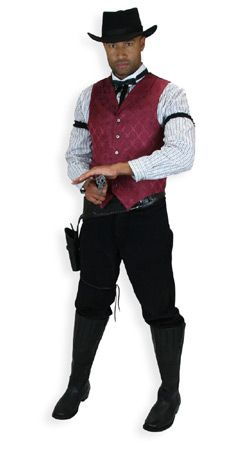 Old West, Mens Outfits Gunslingers |Antique, Vintage, Old Fashioned, Wedding, Theatrical, Reenacting Costume |