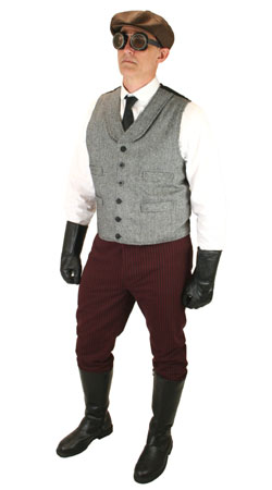 Edwardian,Steampunk Mens Outfits Motorists |Antique, Vintage, Old Fashioned, Wedding, Theatrical, Reenacting Costume | Vintage Auto
