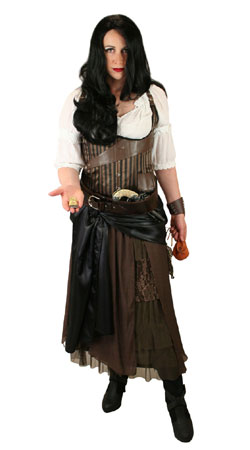 Pirate Ladies Outfits Frontier Folk |Antique, Vintage, Old Fashioned, Wedding, Theatrical, Reenacting Costume | Pirate