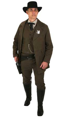 Old West Mens Outfits Sheriffs and Soldiers,Gunslingers |Antique, Vintage, Old Fashioned, Wedding, Theatrical, Reenacting Costume |
