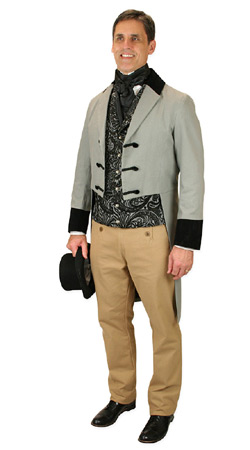 Regency Mens Outfits Nobility |Antique, Vintage, Old Fashioned, Wedding, Theatrical, Reenacting Costume |