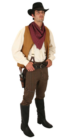Old West, Mens Outfits Frontier Folk,Townspeople |Antique, Vintage, Old Fashioned, Wedding, Theatrical, Reenacting Costume |