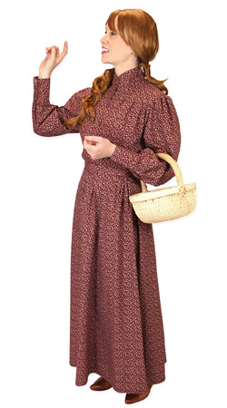 Victorian,Old West, Ladies Outfits Frontier Folk |Antique, Vintage, Old Fashioned, Wedding, Theatrical, Reenacting Costume |