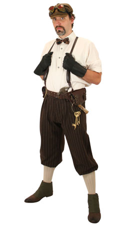 Steampunk Mens Outfits Adventurers,Professionals |Antique, Vintage, Old Fashioned, Wedding, Theatrical, Reenacting Costume | Adventurer