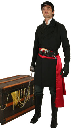 Steampunk,Pirate,Hollywood Mens Outfits Villains |Antique, Vintage, Old Fashioned, Wedding, Theatrical, Reenacting Costume | Adventurer,Pirate