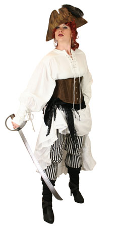 Pirate Ladies Outfits Villains |Antique, Vintage, Old Fashioned, Wedding, Theatrical, Reenacting Costume | Pirate