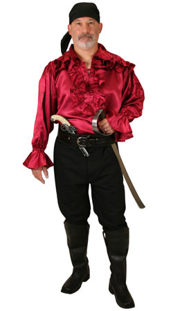 Pirate Mens Outfits Villains |Antique, Vintage, Old Fashioned, Wedding, Theatrical, Reenacting Costume | Pirate