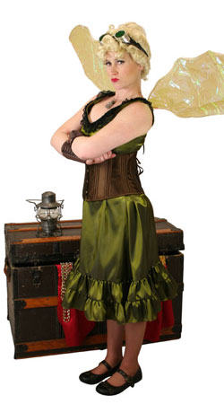 Steampunk,Hollywood,Literary Ladies Outfits Adventurers |Antique, Vintage, Old Fashioned, Wedding, Theatrical, Reenacting Costume | Famous Characters,Peter Pan