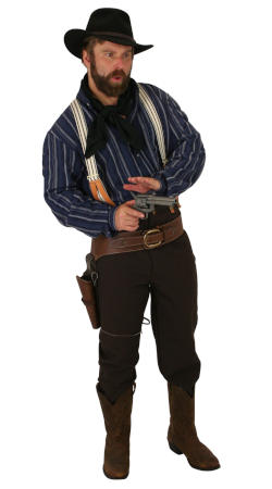 Old West Mens Outfits Frontier Folk,Townspeople,Gunslingers |Antique, Vintage, Old Fashioned, Wedding, Theatrical, Reenacting Costume |