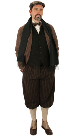Edwardian, Mens Outfits,Quick Ship Outfits Townspeople |Antique, Vintage, Old Fashioned, Wedding, Theatrical, Reenacting Costume |
