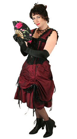 Steampunk, Ladies Outfits,Quick Ship Outfits Saloon Staff |Antique, Vintage, Old Fashioned, Wedding, Theatrical, Reenacting Costume |