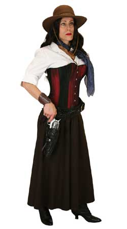 Steampunk,Old West Ladies Outfits Sheriffs and Soldiers,Gunslingers |Antique, Vintage, Old Fashioned, Wedding, Theatrical, Reenacting Costume |