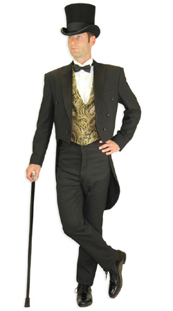 Edwardian, Mens Outfits Tycoons  Antique, Vintage, Old Fashioned, Wedding, Theatrical, Reenacting Costume  