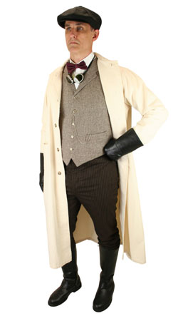 Steampunk,Edwardian, Mens Outfits Motorists |Antique, Vintage, Old Fashioned, Wedding, Theatrical, Reenacting Costume | Vintage Auto