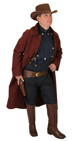 Old West Mens Outfits Gunslingers,Sheriffs and Soldiers |Antique, Vintage, Old Fashioned, Wedding, Theatrical, Reenacting Costume |