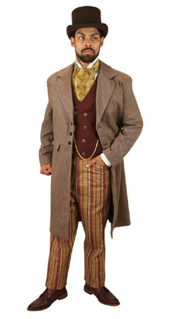 Victorian,Old West,Steampunk, Mens Outfits Professionals,Townspeople |Antique, Vintage, Old Fashioned, Wedding, Theatrical, Reenacting Costume |