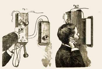 Old Fashioned Phone.  source: Library of Congress