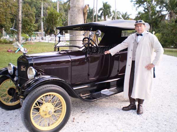 Customer photos wearing Model T for Hire