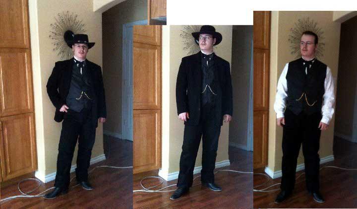 Customer photos wearing A Cowboy and a Gentleman