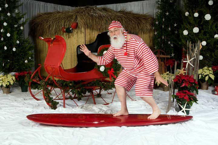 Customer photos wearing Sandy Claus