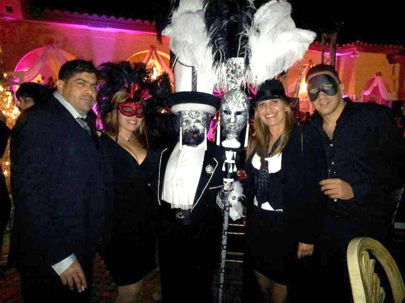 Customer photos wearing Masquerade!
