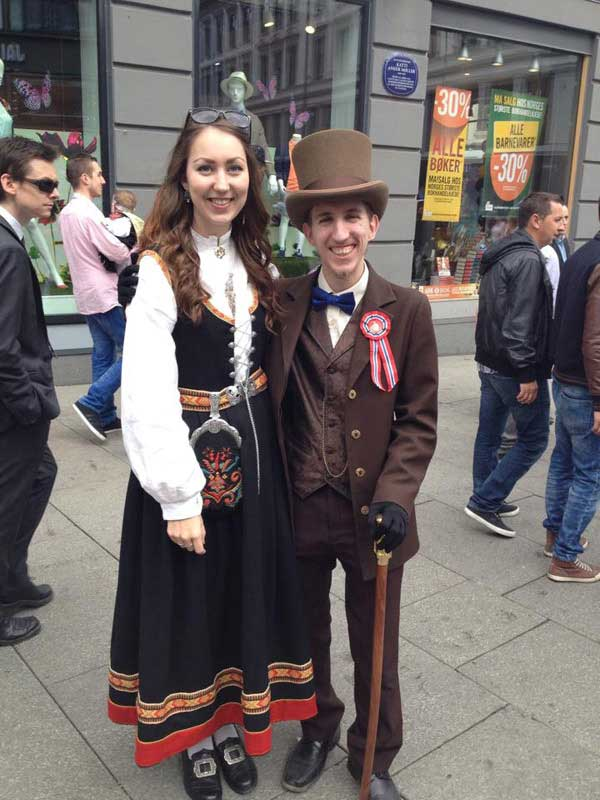 Customer photos wearing Constitution Day in Norway