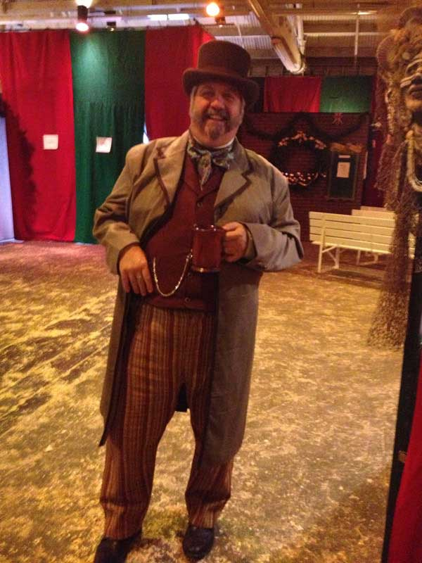 Customer photos wearing A Merry Chap at the Dickens Faire