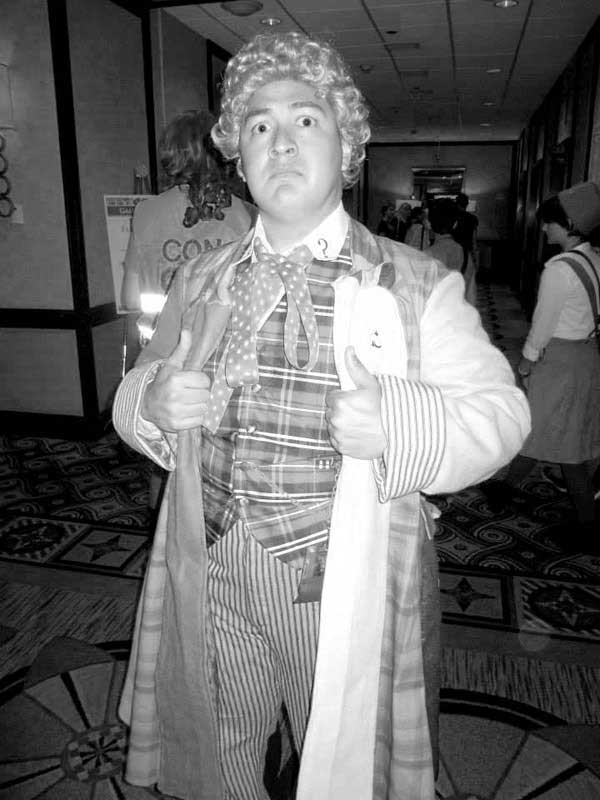 Customer photos wearing The 6th Doctor