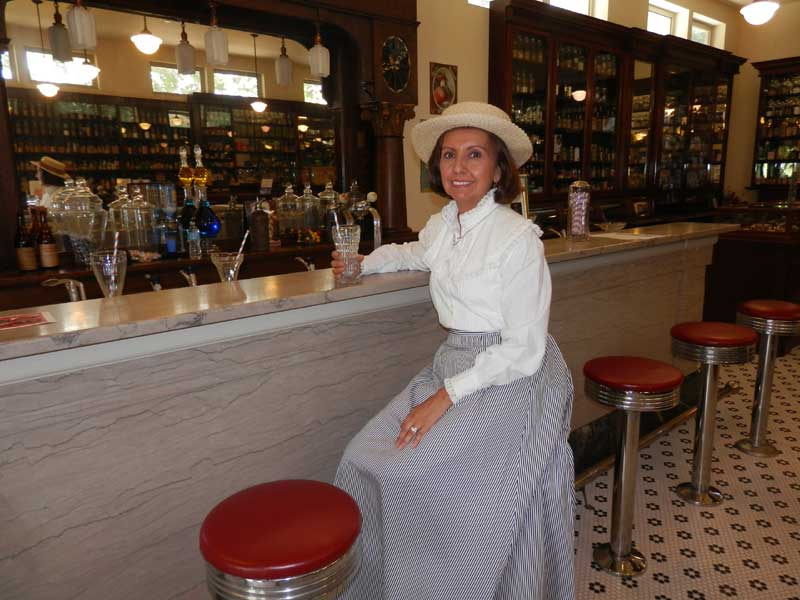 Customer photos wearing Heritage Square Colonial Drug Store