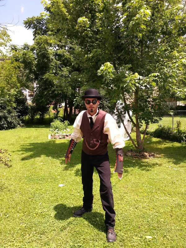 Customer photos wearing 1st Steampunk Outfit