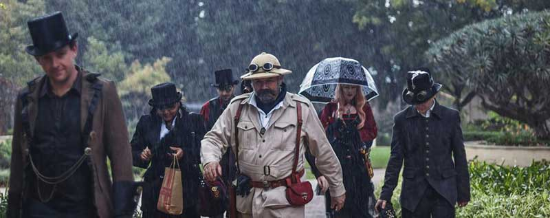 Customer photos wearing Rain: Another Good Reason for Hats