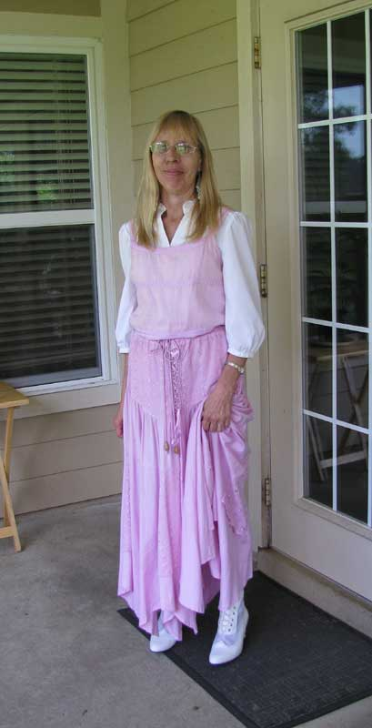 Customer photos wearing Stepping Out!
