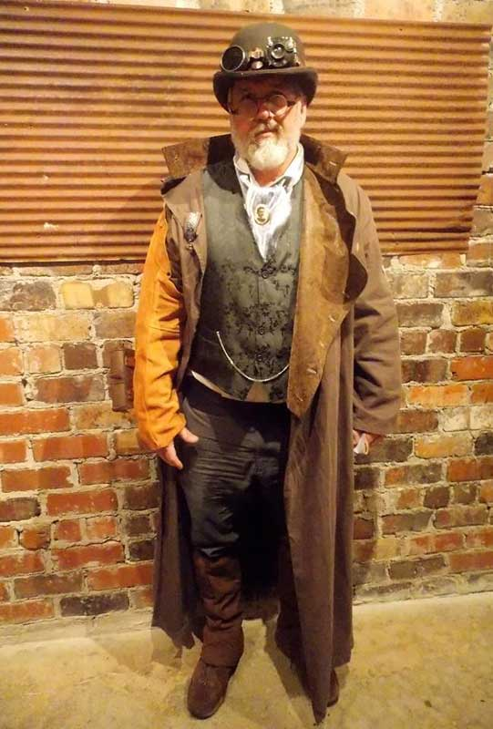 Customer photos wearing Brown Howie goes Steampunk