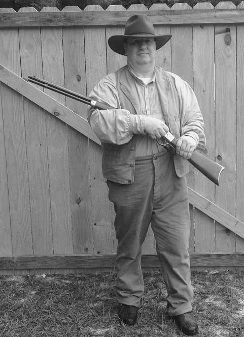 Customer photos wearing SASS competitor ready to shoot