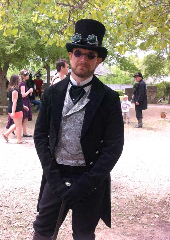 Customer photos wearing Steampunked Husband-to-be