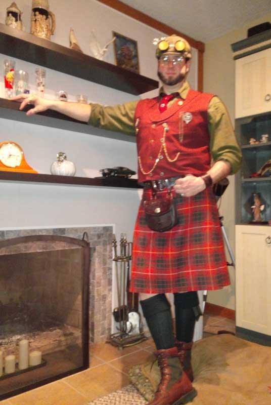 Customer photos wearing Traditional Scottish Dress - Steampunk Style