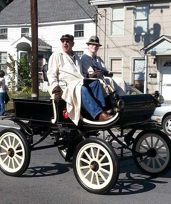 Customer photos wearing Handmade Horseless Carriage