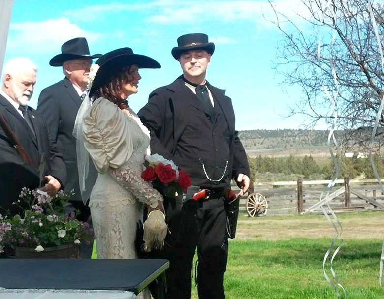 Customer photos wearing Western Wedding Style