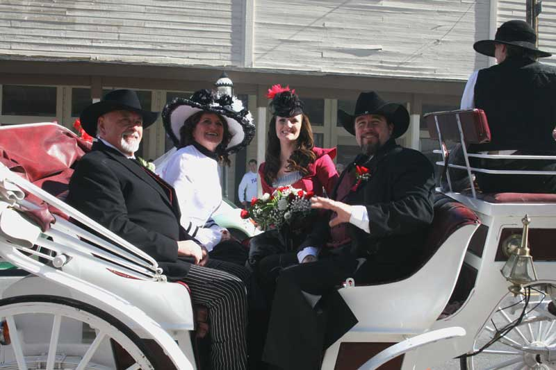 Customer photos wearing Carriage Ride to Marital Bliss