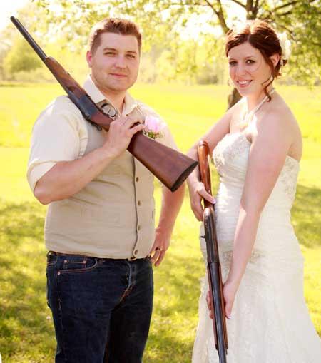 Customer photos wearing Vows and Guns